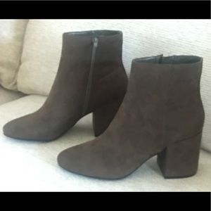 Swede ankle boots